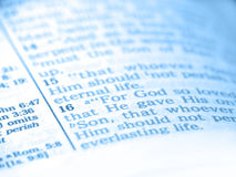 Bible Abstract Blue Royalty Free Stock Photos