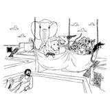 The Bible - Acts 11:5. Illustration from The Bible - Acts 11:5, black and white version. Useful also for educational or coloring books for kids. You can find vector illustration