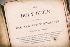 The Bible. Age effected Bible and scriptures Stock Photo