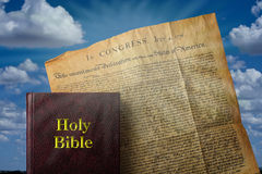 Bible and America. Stock Photo