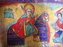 Bible Art in Ura Kidane Mihret Church Royalty Free Stock Photography