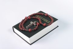 Bible and  beads Royalty Free Stock Photos