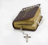 Bible with beads Royalty Free Stock Photos