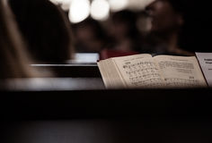Bible on  bench Royalty Free Stock Image
