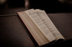 Bible on  bench Stock Photography