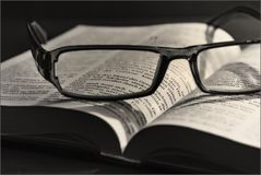 Bible, Black-and-white, Book Stock Photography