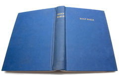 Bible bleue Photographie stock libre de droits
