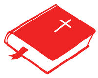Bible book. Drawing of bible book in a white background Royalty Free Stock Photography