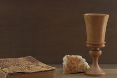 Bible, Bread and Cup stock image  Image of christianity