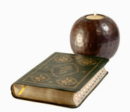 Bible, candle. Are attributes of religion Stock Photos