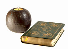 Bible, candle. Are attributes of religion Royalty Free Stock Photography
