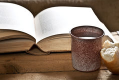 Bible With Chalice Royalty Free Stock Photos