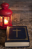 Bible and Christmas time Royalty Free Stock Image