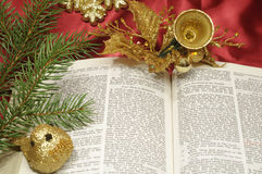 Bible Christmas trimmings Stock Photos
