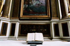 Bible on church apse Royalty Free Stock Images
