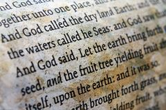 Bible close up Royalty Free Stock Images