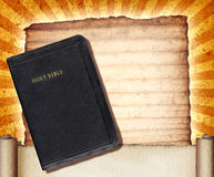 Bible Collage. A vintage collage with The Holy Bible royalty free stock photos