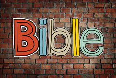 Bible Concepts on Brick Wall Stock Image