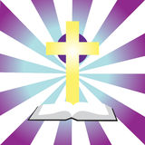 Bible and Cross. Vector illustration showing bible and cross Vector Illustration