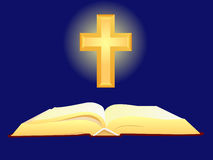 Bible and cross royalty free illustration