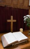 Bible and Cross stock photo