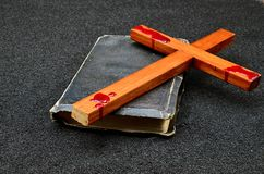 Bible cross royalty free stock photo