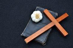 Bible cross stock photos