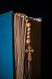 The bible and cross in religious concept Stock Images