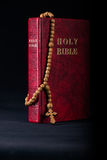 The bible and cross in religious concept Royalty Free Stock Photo