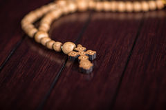The bible and cross in religious concept Royalty Free Stock Image
