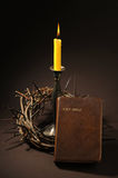Bible and crown of thorns Royalty Free Stock Photography