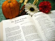 Bible d'action de grâces Photo libre de droits