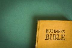 Bible d'affaires Photographie stock libre de droits