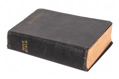 Bible d'isolement de cru Images stock