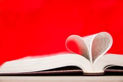 Bible and day in love. A Bible and happy valentine`s day in love stock photography