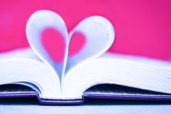 Bible and day in love. A Bible and happy valentine`s day in love royalty free stock images