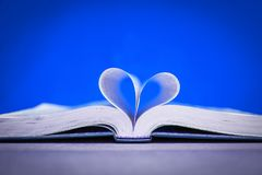 Bible and day in love. A Bible and happy valentine`s day in love royalty free stock photo
