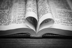 Bible and day in love. A Bible and happy valentine`s day in love stock photo