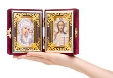 Bible de foi d'icônes à disposition photos stock
