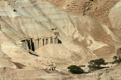 Bible desert on the coast of the Dead Sea Royalty Free Stock Image