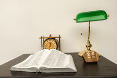 The Bible on a desk Stock Photo
