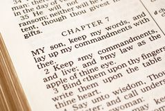 Bible detail Royalty Free Stock Photo