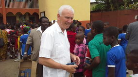 Bible distribution in a Nigerian school Stock Photos