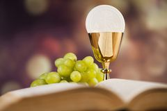 Bible, Eucharist, sacrament of communion background royalty free stock images