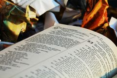 the Bible at the garbage Royalty Free Stock Photography