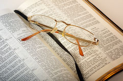 Bible with glasses Royalty Free Stock Image
