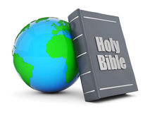 Bible and globe Royalty Free Stock Images