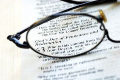 Bible: God's Day of Vengeance and Redemption Stock Photo