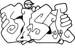 Bible graffiti vector Royalty Free Stock Photo