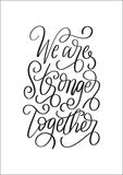 Bible Hand Lettered We Are Stronger Together. Bible Lettering of Luke